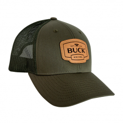 Бейсболка Buck OD Green Leather Patch Cap Buck 89139